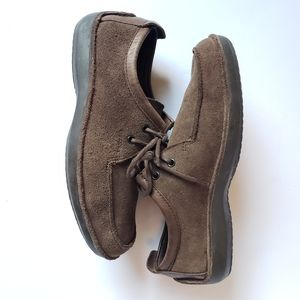 Goex Respira casual suede lace up shoes w leather
